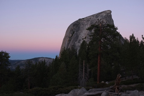 Clouds Rest and Half Dome at Yosemite - August 2013