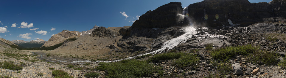Bow Lake   Bow Glacier Falls Panorama thumb