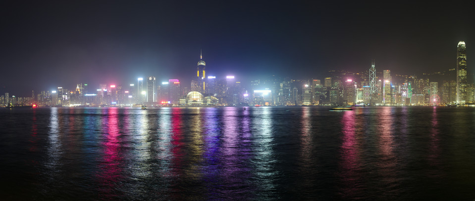 Tsim Sha Tsui   Night Skyline Panorama thumb